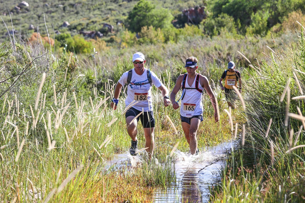 Despite the mid-summer race date, and the Klein Karoo race start, splashing through streams is a likelihood during the Attakwas Trail.  Photo by Oakpics.com.