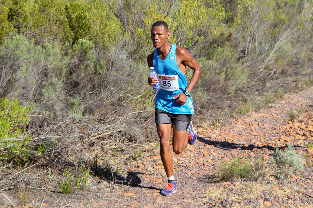 Ettiene Plaatjies on his way to victory in the 2016 Fairview Attakwas Trail Extreme route. Plaatjies managed to complete the course in an impressive two hours and one minute.