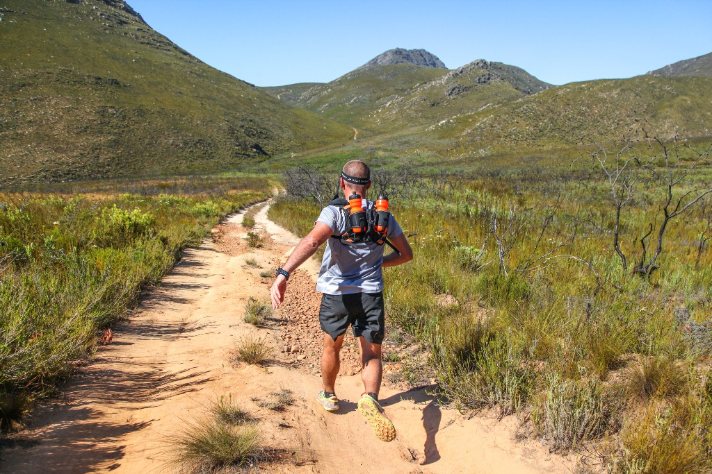 Jason Hooper eyes the climb towards the Attkwaskloof Neck up ahead.